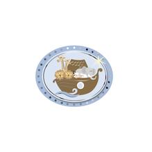3D Papier-Accessoires: Arche Noah, 4,7x3,8cm, selbstklebend, SB-Btl 6Stück, babyblau