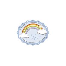 3D Papier-Accessoires: Regenbogen, 4,5x3,6cm, selbstklebend, SB-Btl 6Stück, babyblau