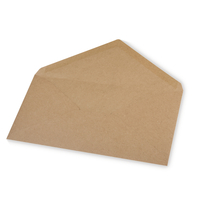 Kuvert DIN Lang, kraft, FSC Rec. Credit, 220x110mm, 90g/m2, Beutel 5Stück, kraft
