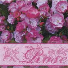 Servietten, 33x33 cm, Packung 20 Stück, Rose