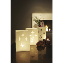 Luminaria-Lichttüte, Advent-Set, 16x11x8,5 cm, Beutel 24 Stück