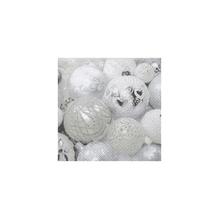 Serv. Christmas balls,FSC Mix Credit, 33x33cm, Beutel 20Stück