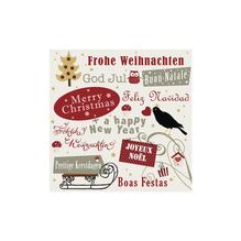 Serviette Frohe Weihnachten, 33x33cm, Beutel 20Stück