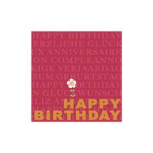 Serviette Happy Birthday, 33x33cm, Beutel 20Stück
