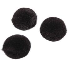 Pompons, 10 mm, SB-Btl. 65 Stück, schwarz