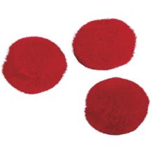 Pompons, 10 mm, SB-Btl. 65 Stück, rot
