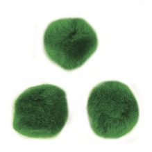 Pompons, 10 mm, SB-Btl. 65 Stück, grün
