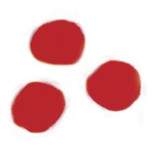 Pompons, 15 mm, SB-Btl. 60 Stück, rot