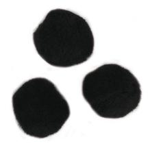 Pompons, 20 mm, SB-Btl. 50 Stück, schwarz
