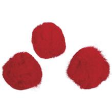 Pompons, 25 mm, SB-Btl. 35 Stück, rot