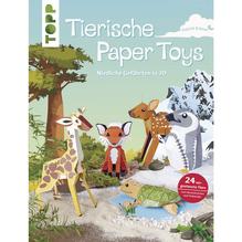 Buch: Tierische Paper Toys, nur in deutscher Sprache