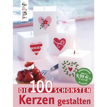 Buch: Die 100 schönsten Kerzen gestalten, nur in deutscher Sprache