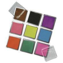 Scrapbooking Stempelkissen-Set, 3,5x3,5 cm, Set 9 Farben, gemischt