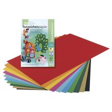 Tonzeichenpapier, DIN A4, 130 g/m2, Block 20 Blatt, 10 Farben