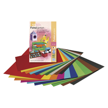 Fotokarton - 10 Farben, 22x33cm, 300 g/m2, Block 10Blatt