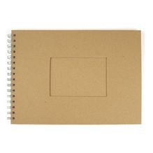Album, mit Passepartoutstanzung, QF, Rechteck, DIN A4, 30 Blatt, 190 g/m2