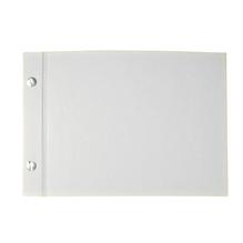 Album, weiss geschraubt, Querformat, DIN A5, 25 Blatt, 190 g/m2