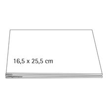 Album, weiß geschraubt, 16,5x25,5 cm