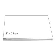 Album, weiß geschraubt, 23x35 cm