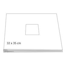 Album, weiß, geschraubt, 35x32 cm