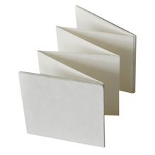 Leporello, 13,5x13,5 cm, SB-Btl. 1 Stück, weiß
