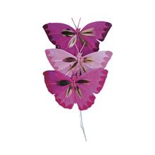 Federschmetterling, 6 cm, SB-Btl. 3 Stück, Pinktöne