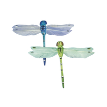 Federlibelle, 9 cm, SB-Btl. 2 Stück, blau/grün