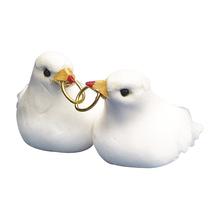 Feder-Taubenpaar, 3 cm, SB-Btl. 1 Paar