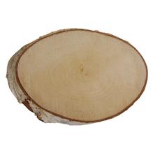 Birken Scheibe oval natur, ø21-23cm x 2cm Höhe, Beutel 1Stück