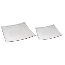 Glas-Platten-Set, 16x16 cm + 11x11 cm