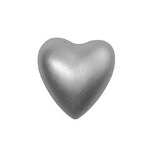 Porzellan-Herz, 3,5x4x1,8 cm, PVC-Box 2 Stück, silber