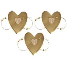 Deko-Herz mit Perlen, selbstklebend, 4,2-5cm, SB-Btl. 3 St. auf Karte, gold