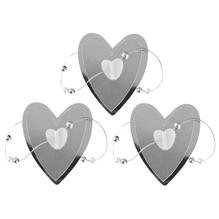 Deko-Herz mit Perlen, selbstklebend, 4,2-5cm, SB-Btl. 3 St. auf Karte, silber