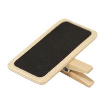 Holz-Minitafel auf Klammer, 4x2cm, SB-Btl 6Stück