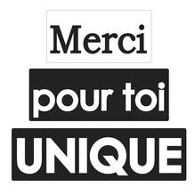 Labels Merci+pour toi+unique, 30x15mm, 40x15mm, 50x15mm, SB-Btl 3Stück