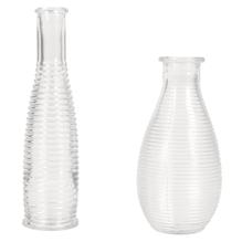 Set Rillen-Vasen, 14+18cm, (110ml+220ml), Box 2Stück