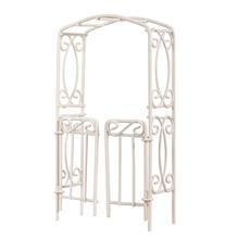 Rankbogen mit Türen, 8x15x3,7cm, SB-Btl 1Stück, weiß