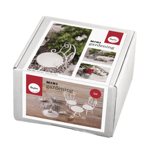 Mini-Gardening Set- Dreams, 9-teilig, weiß, Karton