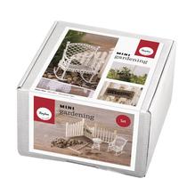 Mini-Gardening Set- Summertime, 7-teilig, weiß, Karton