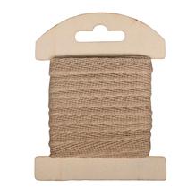 Baumwollband, 1cm, SB-Karte 3m, natur
