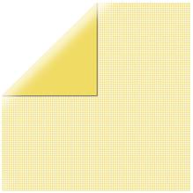 Scrapbookingpapier kariert, 30,5x30,5cm, 190g/m2, sonnengelb