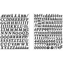 Sticker Alphabet + Zahlen Classic, SB-Btl 1Stück, schwarz