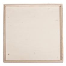 Holz-Deko-Rahmen, FSC Mix Credit, 21x21x1,5cm, + 1 Wandhaken