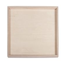 Holz-Deko-Rahmen, FSC Mix Credit, 26x26x1,5cm, + 1 Wandhaken