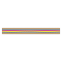 Washi Tape Bordüre bunt, 15mm, Rolle 15m