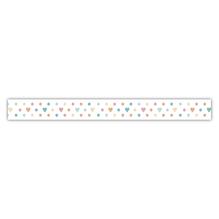 Washi Tape Punkte/Herzchen, 15mm, Rolle 15m
