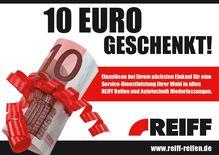 10 Euro Rabatt-Gutschein auf Reifen- und Autoservice-Leistungen