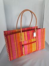 Handtasche aus Flachgewebe, bunt