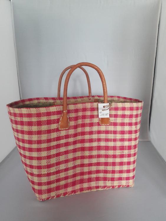 Kleine Handtasche aus Flachgewebe