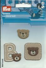 Applikationen - Patches - zum Aufbügeln - Set mit 3 Stück / Bärchen